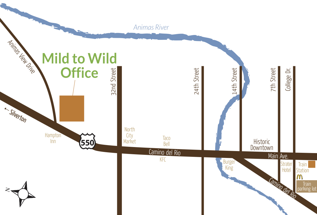 mild to wild location map