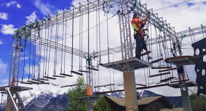 Durango Vacation: Ropes Course at Purgatory Resort